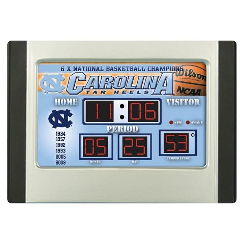 North Carolina Tarheels Team Sports America Scoreboard Desk Clock