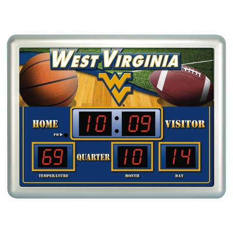 West Virginia Mountaineers Team Sports America Scoreboard Clock