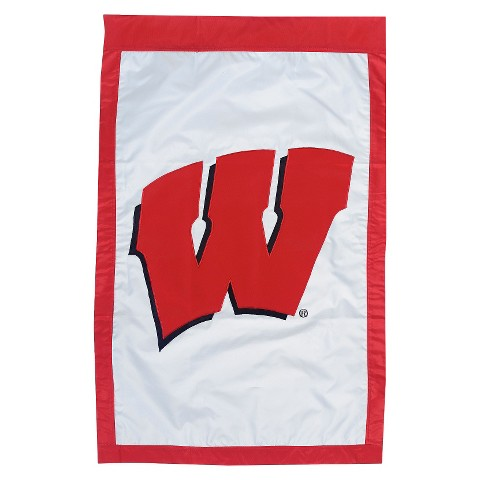 Wisconsin Badgers Team Sports America House Flag