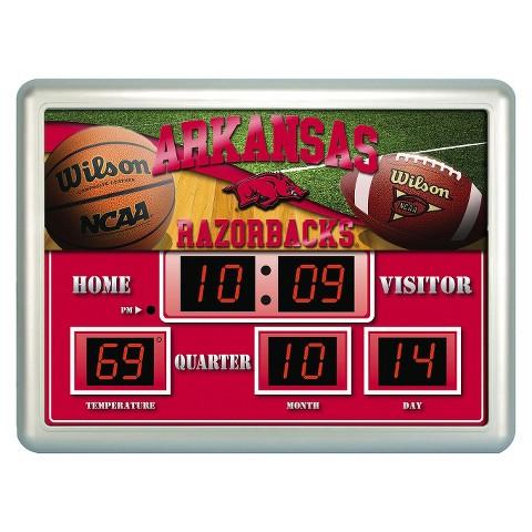 Arkansas Razorbacks Team Sports America Scoreboard Clock