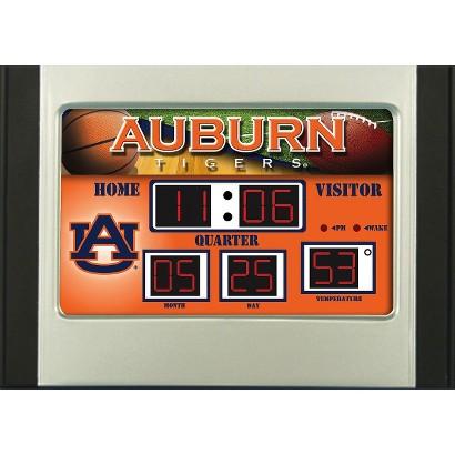 Auburn Tigers Team Sports America Scoreboard Desk Clock