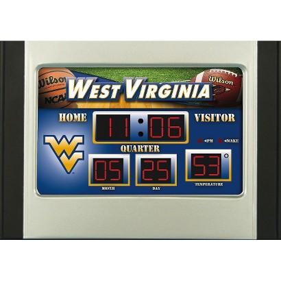 Team Sports America West Virginia Scoreboard Desk Clock