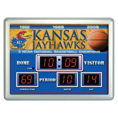 Kansas Jayhawks Team Sports America Scoreboard Clock