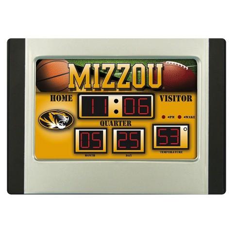 Missouri Tigers Team Sports America Scoreboard Desk Clock