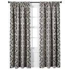 Threshold™ Woven Damask Curtain Panel - Black/White