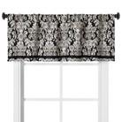 "Threshold™ Woven Damask Window Valance - Black/White (54x18"")"