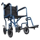 Hugo Portable TranSport Chair with Detachable Footrests - Midnight Blue
