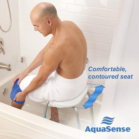 aquasense adjustable bath and shower chair with non slip upc 775757705361 aquasense adjustable bath and shower