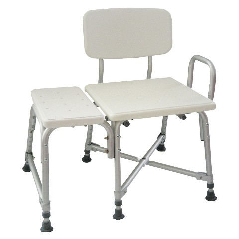 AquaSense Adjustable Bariatric Transfer Bench with Arm