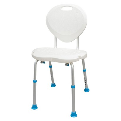 AquaSense Adjustable Bath and Shower Chair with Non Slip Comfort Seat and Backrest