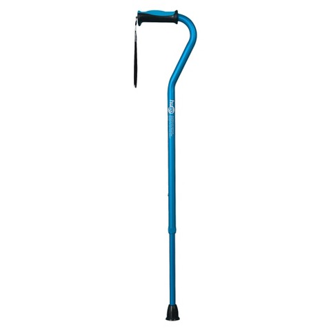 Hugo Adjustable Offset Handle Cane with Reflective Strap