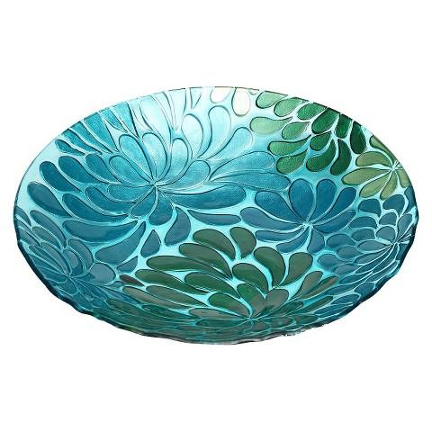 Blossoms Glass Birdbath