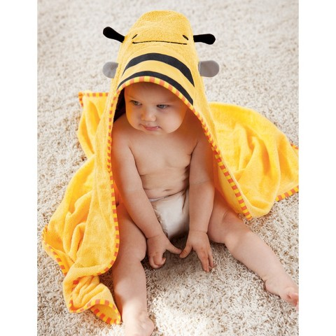 Skip Hop Zoo Toddler Towel and Mitt Set, Bee