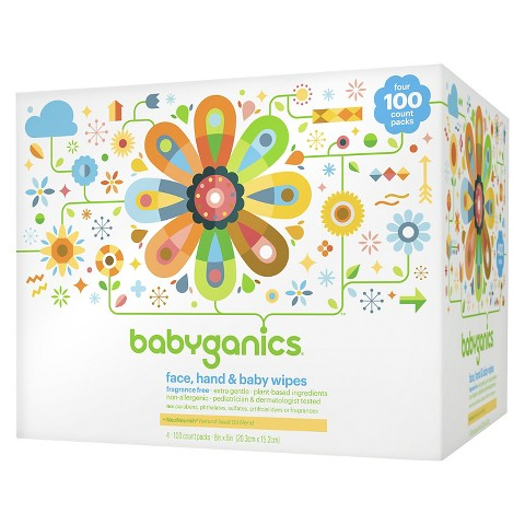 Babyganics Face, Hand & Baby Wipes, Fragrance Free - 400 Count