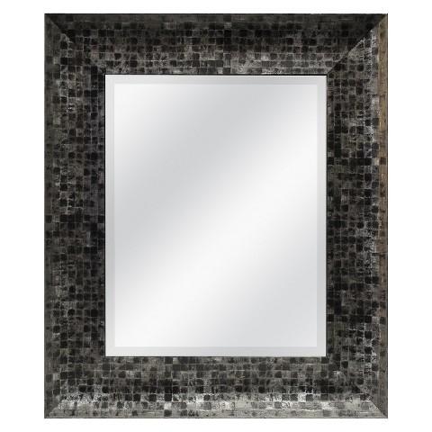 Mosaic Mirror - Pewter &  Black 22.5x24.5