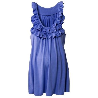 Maternity Sleeveless Ruffled Knit Top-Merona®