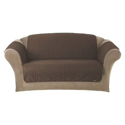 Sure Fit Quilted Duck Furniture Friend Pet Sofa Cover - Chocolate