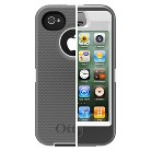 Otterbox Defender Cell Phone Case for iPhone4/4S - White/Gray (77-18579P1)