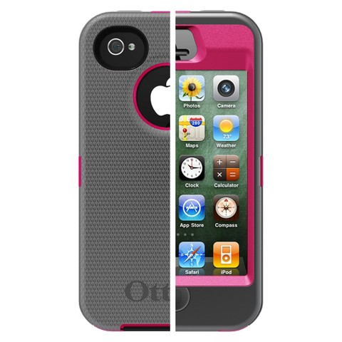 Otterbox Defender Cell Phone Case for iPhone4/4S - Pink (77-18748P1)