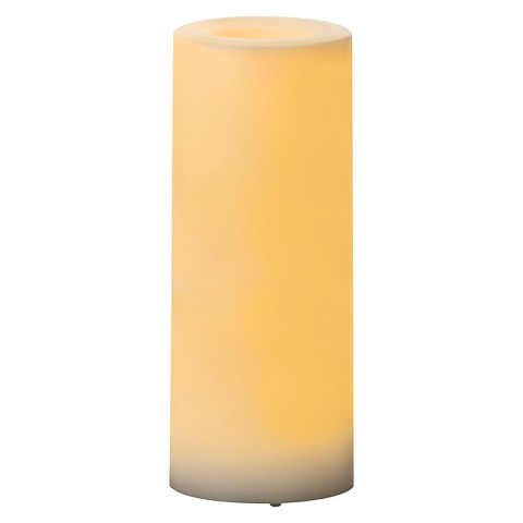 Inglow White Outdoor Candle 3x8