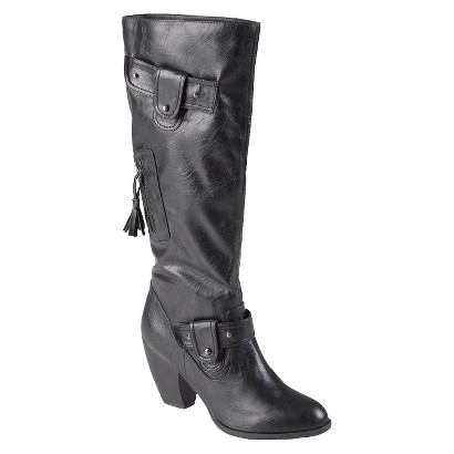 Womens' Journee Collection  Almond Toe Stud Detail Tall Boots
