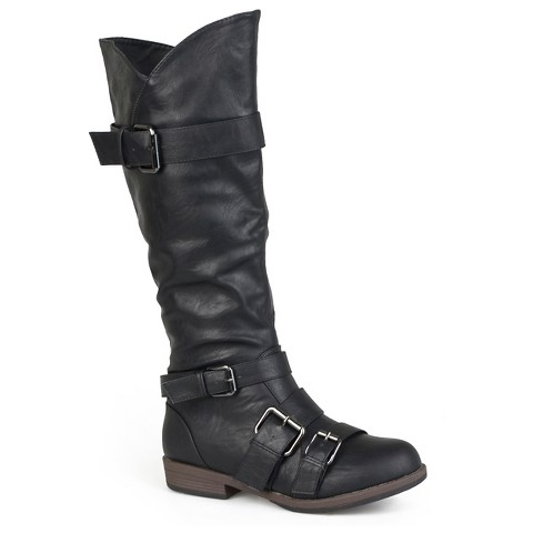 Womens' Journee Collection  Round Toe Buckle Detail Boots