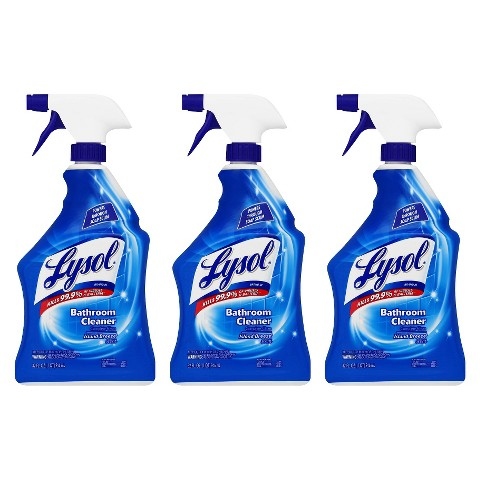 LYSOL Bathroom Cleaner Trigger,  32 Ounces,  3 Pack