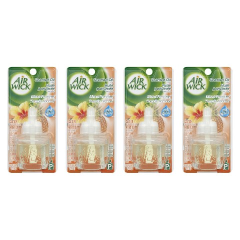 Air Wick Island Paradise Scented Oil Refills 0.67 oz 4 ct