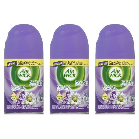 Air Wick Freshmatic Ultra Automatic Spray Refill Lavender & Chamomile Scent 6.17 oz 3 ct