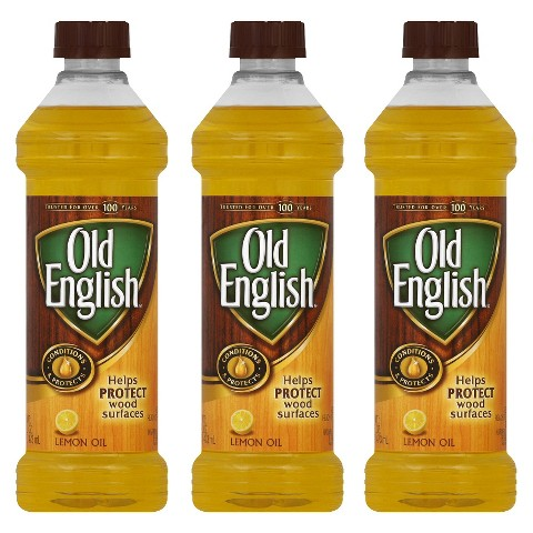 Old English Polish Oil - Lemon- 16 oz.- 3 Pack