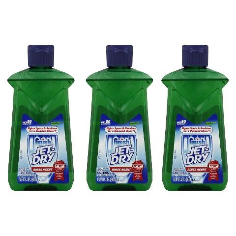 Finish Jet-Dry Rinse Agent - Liquid Green Apple Vinegar,  8.45 Ounces ,  3 Pack