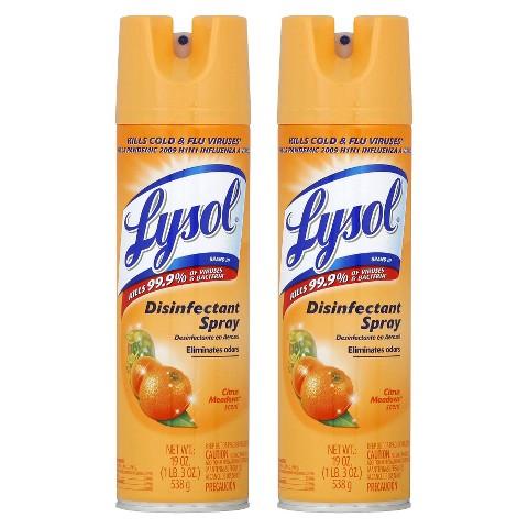 LYSOL Disinfectant Spray - CIRUS MEADOWS,  19 Ounces,  2 Pack