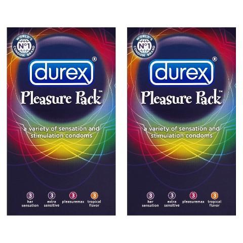 Durex® Pleasure Pack™ Sensation and Stimulation 2 Pack Condoms - 24 Count