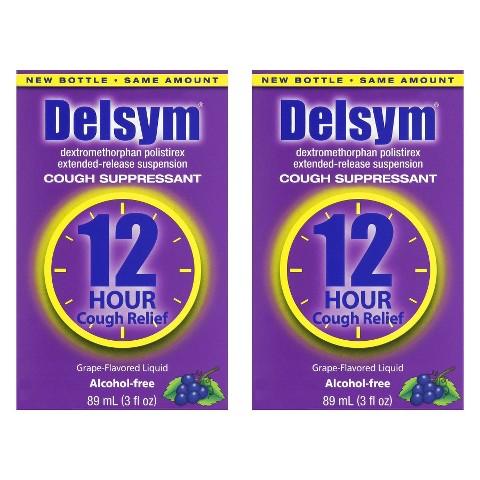 Delsym® Cough  Suppressant Grape Liquid - 2 Count (3 oz each)