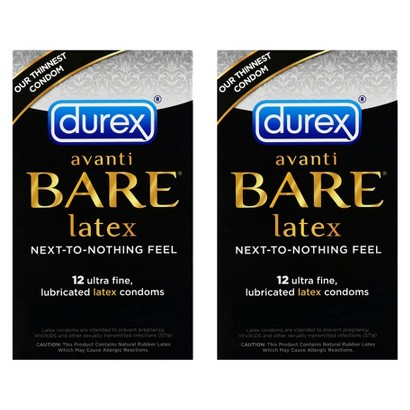 Durex® Avanti Bare Latex Ultra Fine Lubricated 2 Pack Condoms - 24 Count