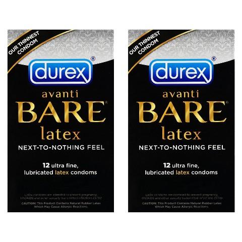 Durex® Avanti Bare Latex Ultra Fine Lubricated 2 Pack Condoms - 24 Count