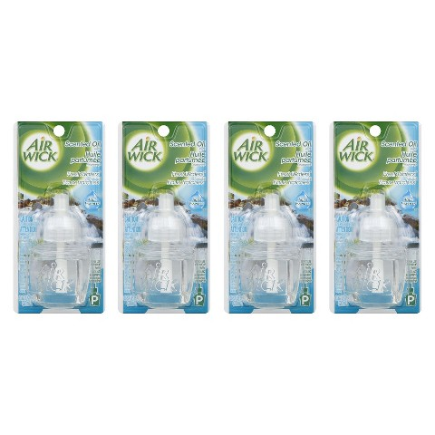 Air Wick Fresh Waters Scented Oil Refills 0.67 oz 4 ct