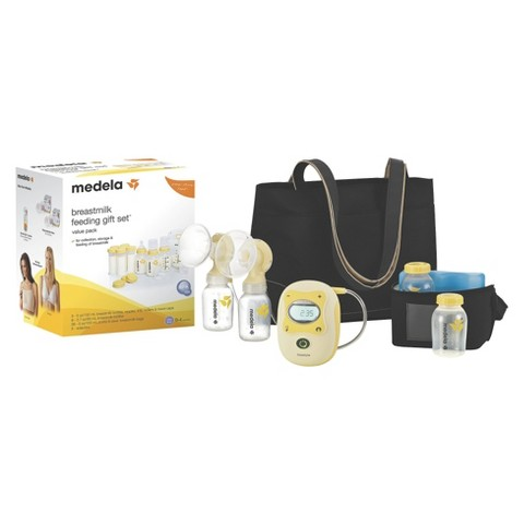 Medela Freestyle Hands-Free Double Electric Breast Pump with Feeding Gift Set Bundle