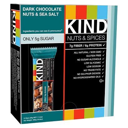 Kind® Dark Chocolate Nuts and Sea Salt Nutrition Bar - 12 Count