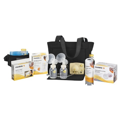 Medela Pump In Style Advanced Breast Pump On-the-Go Tote with Accessory Bundle