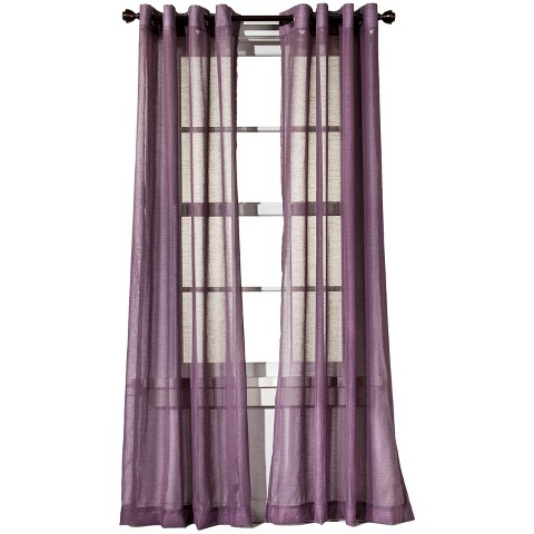 threshold linen grommet sheer curtain panel product details page
