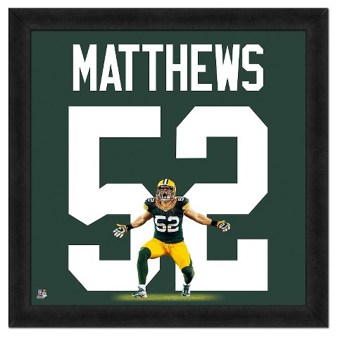 Green Bay Packers Clay Matthews Framed Uniframe