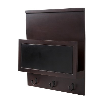 Threshold™ Wall Organizer - Espresso with Chalkboard