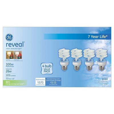 GE Reveal 100-Watt CFL Light Bulb (4-Pack)