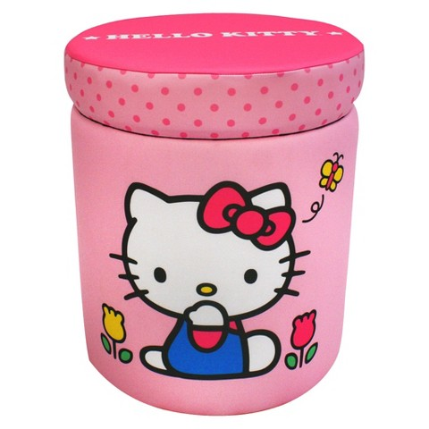 Magical Harmony Kids Storage Ottoman - Hello Kitty