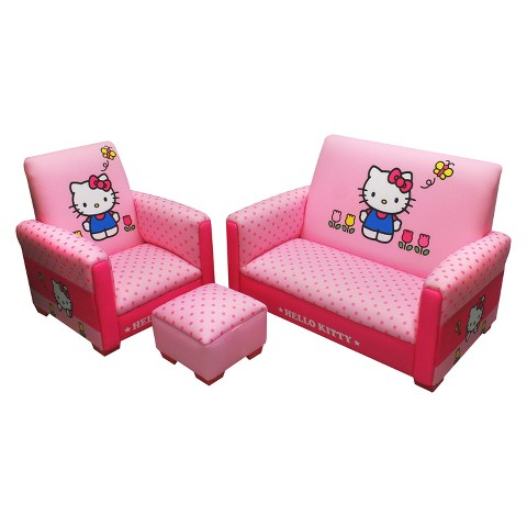 Komfy Kings Kids 3-Piece Toddler Furniture Set - Hello Kitty