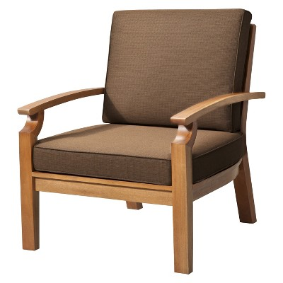 Patio Club Chair: Smith U0026 Hawken Brooks Island Wood Patio Club Chair:  Espresso