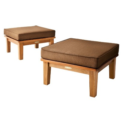 Smith & Hawken® Brooks Island 2-Piece Wood Patio Ottoman Set