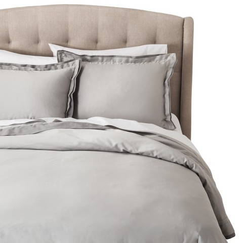 Fieldcrest® Luxury Duvet Cover Set - Gray