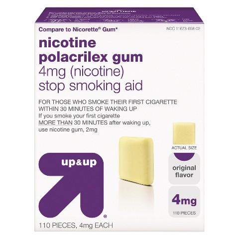 up & up™ Nicotine Gum 4mg Original - 110 Count